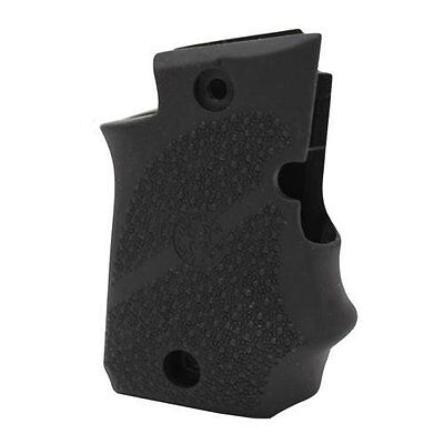Rubber Grip with Finger Grooves for Sig 938 Ambidextrous Safety Black Finish