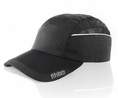 Adjustable Lightweight Running Hat - One Size Fits All Quick Dry-Fit Polyester