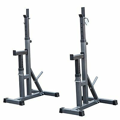 Bench Press Stands Peg Rack for Adjustable Independent Weight Lifting - 2 Pack