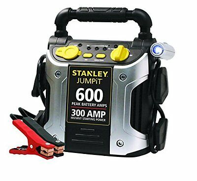 Portable 600 Peak Amp Jump Starter Easy to Use Instant Battery Power by Stanley