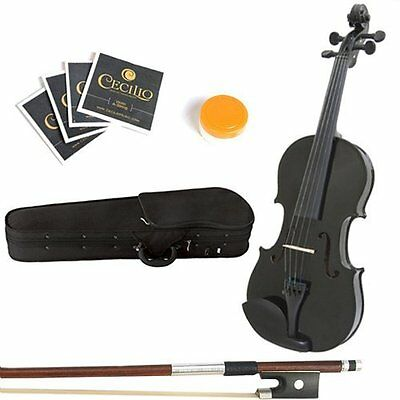 """12"""" Solid Wood Viola with Lightweight Case Bow Rosin Bridge and Strings"""