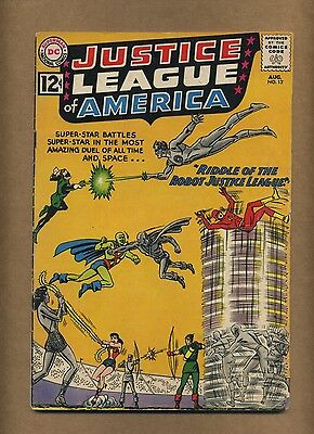 Justice League of America 13 (Solid!) Speedy appearance; DC; 1962 (c#13907)