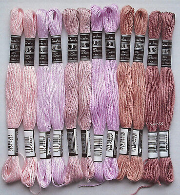 Embroidery thread 12 Dock pink ROSè with Sticktwist made of Cotton embroider -25