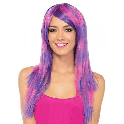 Long Striped Cheshire Cat Wig Costume Accessory Adult Halloween