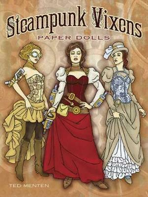 Steampunk Vixens Paper Dolls by Ted Menten (English) Paperback Book Free Shippin