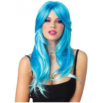 Glow Two-tone Long Wavy Wig Costume Accessory Adult Halloween