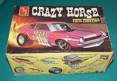 Ford Mustang II Funny Car AMT 1/25 Built Needs Restoration.