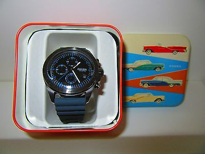 Fossil Men's Chronograph Sport 54 Gray Silicone Strap Watch 44mm CH3063 NWT
