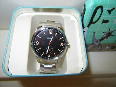 Fossil Men's Vintage 54 Stainless Steel Bracelet Watch 42mm FS5245 NWT