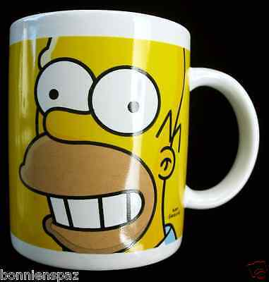Homer Simpson Ceramic Coffee Cup, The Simpsons Porcelain Mug, GREAT GIFT IDEA!!
