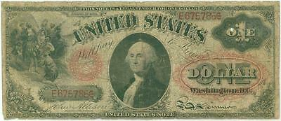 1874 $1 United States Note Red Seal Large Size Note Allison - Spinner Fr. 19