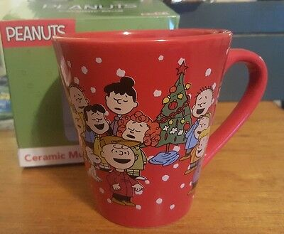 Peanuts Charlie Brown Christmas  Coffee Mug Cup Tea Snoopy Zac Designs Nib