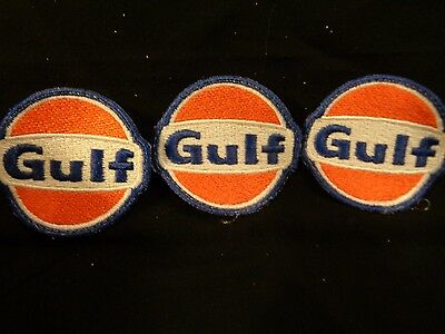 Vintage GULF Gasoline Gas Station Cap or Shirt Patches Patch Chevron Oil Company