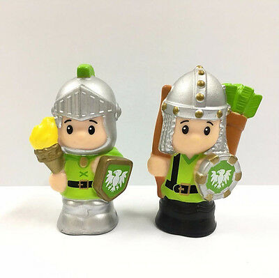 2pcs Fisher-Price Little People Green Knights for Mighty Kings Castle figure toy
