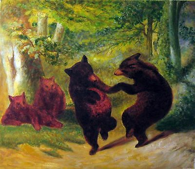 William Holbrook Beard Dancing Bears Oil Painting repro