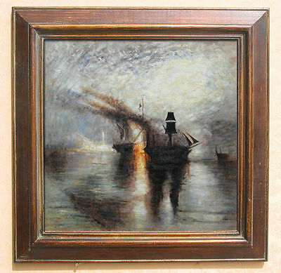 William Turner Peace - Burial at Sea Oil Painting repro