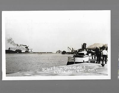pk27831:Real Photo Postcard-Scene From The Docks,Little Current,Ontario