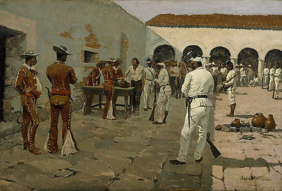 Remington Frederic The Mier Expedition Giclee Canvas Print