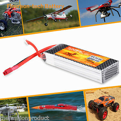 3S 4000mAh 11.1V 25C LiPo Battery Deans for RC Car Airplane Helicopter Truggy AU