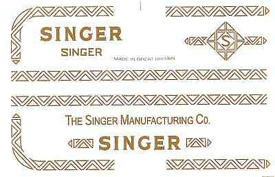 Singer Model 206K 306 319 Sewing Machine Restoration Decals 40753