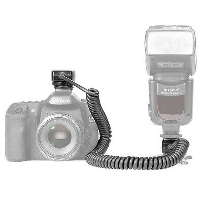 Neewer  3m E-TTL E-TTL II  Cable de Off-cámara flash para Canon EOS 5D Mark III