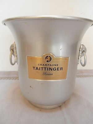 Vintage French Ice Bucket cooler CHAMPAGNE TAITTINGER Reims