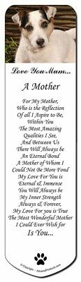 Jack Russell Dog 'Love You Mum' Bookmark, Book Mark Christmas Stoc, AD-JR56lymBM