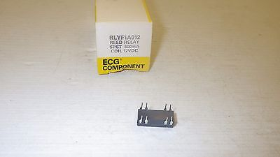 Ecg Component  Rlyf1A012  Spst 500Ma Coil 12Vdc Reed Relay Nib