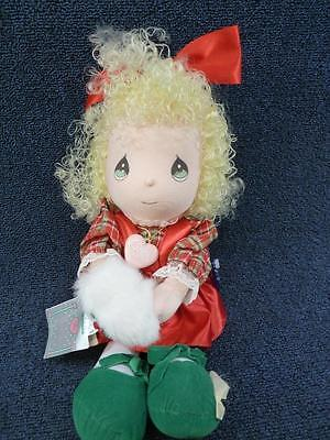 Applause Precious Moments Doll Holly Christmas (pt162)
