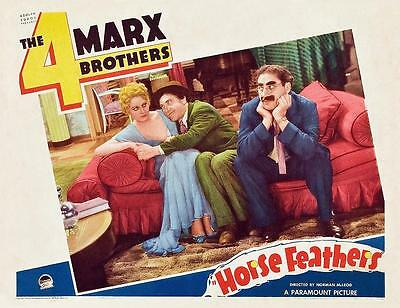THELMA TODD With THE MARX BROTHERS In HORSE FEATHERS 11x14 LC print 1932
