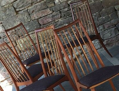 vintage DINING CHAIRS Teakholz  Denmark 50s/60s