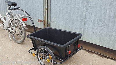Bike Box Trailer Cart 90L Carrier Transporting Luggage Groceries Small Pets