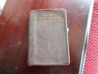 ARTHER WHITE Browns Boy Scout Diary 1937  A/F