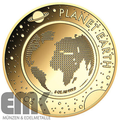 Niue - 1.000 Dollar 2016 - Planet Erde - 5 Oz. Gold in Polierter Platte