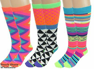 Reebok Mix  N Match All Sport 3 Pack Bright Youth Socks 3 Different Designs  NWT 59c14193e