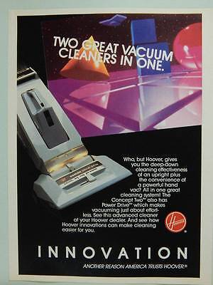 1986 Hoover Vacuum Cleaners - Vintage Ad Concept Two Power Drive Upright Vacuums