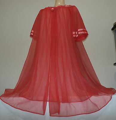 Rare-Vintage Sears Double Nylon Babydolls Nightgown & Peignoir/robe Set-Size-Med