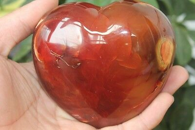 585g Natural Pretty Agate Quartz Heart Healing