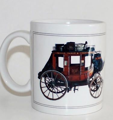 Wells Fargo Collectible Stagecoach Novelty Advertising Coffee Mug Cup #MA