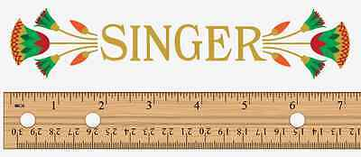 Singer Model 66 Lotus Style Sewing Machine Body Arm Sample Decal 41061