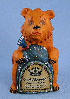 G. Debrekht Russian Bear Dealer Logo Rare Retired