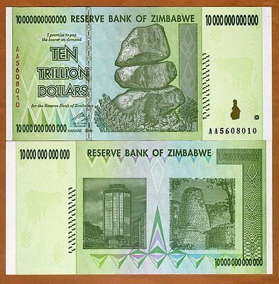 Zimbabwe, 10 Trillion, 2008, P-88, UNC > 50 and 100 trillion series