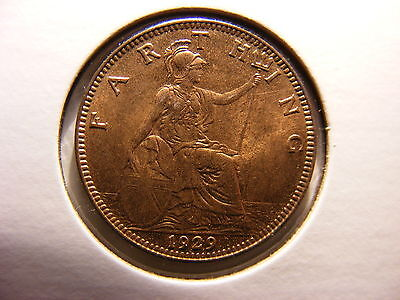 Great Britain Farthing, 1929, RED UNCIRCULATED