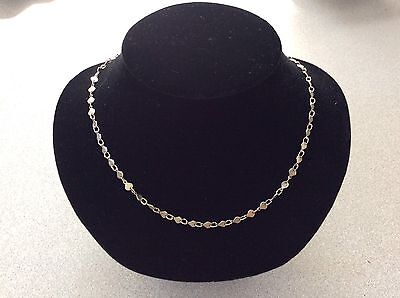 Vintage Sterling Silver 925 Italy Chain of Shells Necklace Marine Nautical