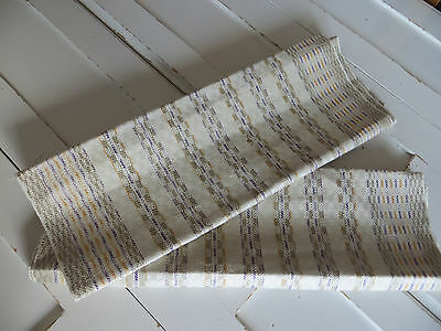 """Unused Set Of Two ( 2 )  Towels Runners Wraps  Checkerboard Linen  Art Deco 38 """""""