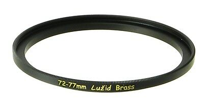 LUŽID X2 Brass 72mm 77mm Step Up Filter Ring Adapter 72 77 Stepping Lens Luzid