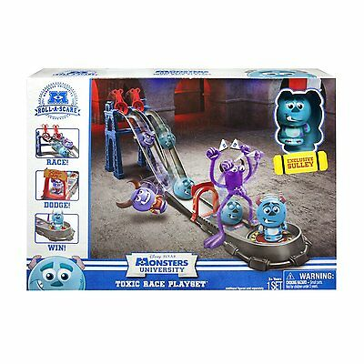 Monsters University Inc Toxic Race Playset & Roll A Scare Sulley Box Damage B124