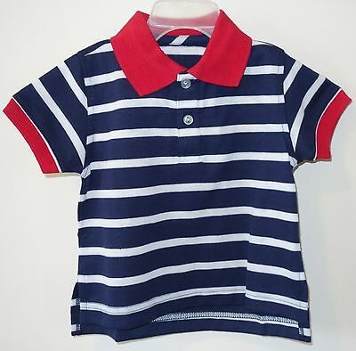 Brand New ~ Kelly's Kids Connor Red White & Blue Polo Shirt Boy's 12M ~ July 4th