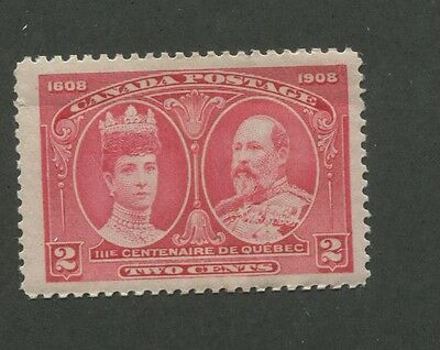Canada 1908 King Edward VII & Queen Alexandra Very Fine 2c Stamp #98 CV $70
