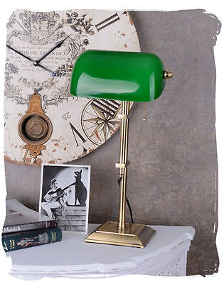 Bankers' lamp in Art Nouveau Style Bankers green Desk Table Office